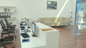 die sicherheitstechnik in einem büro